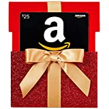Amazon.ca $25 Gift Card in a Red Reveal (Classic Black Card Design)