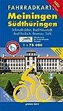 Fahrradkarte Meiningen, Südthüringen: Mit Röhn-Rennsteig-Radweg. Mit UTM-Gitter für GPS. Offizielle Karte des ADFC-Landesverbandes Thüringen. Wasser- ... Ilmenau, Suhl<br>1:75.000 (Fahrradkarten)