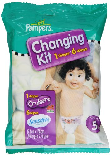 Pampers Cruisers Changing Kit  Size 5  Unscented  (pack Of 10)