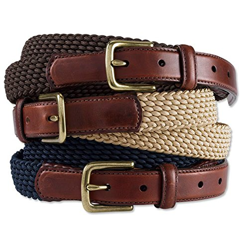 Orvis Braided Stretch Cord Belt, Beige, 44 ()