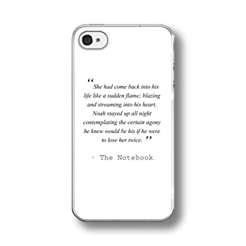 THE NOTEBOOK LOVE QUOTE BOOK MOVIE RUBBER PHONE CASE: Amazon co uk