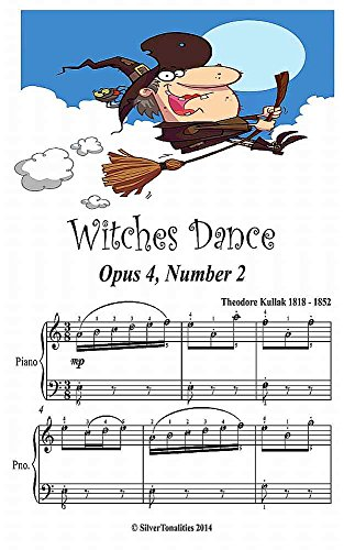 Witches Dance Opus 4 Number 2 Easy Piano Sheet Music Junior Edition