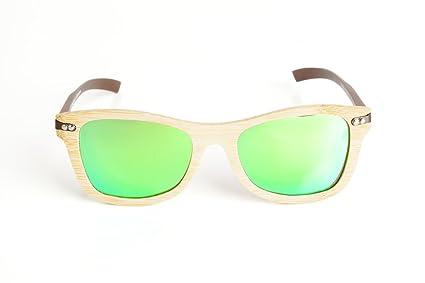 Pandas Eyewear Gafas de Sol de bambú - Linden Verde: Amazon ...