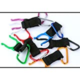 5 Pack Nonlocking Carabiners Aluminum Strap Bottle Clips - Cycling Climbing Quickdraws Outdoors Accessories Random Color