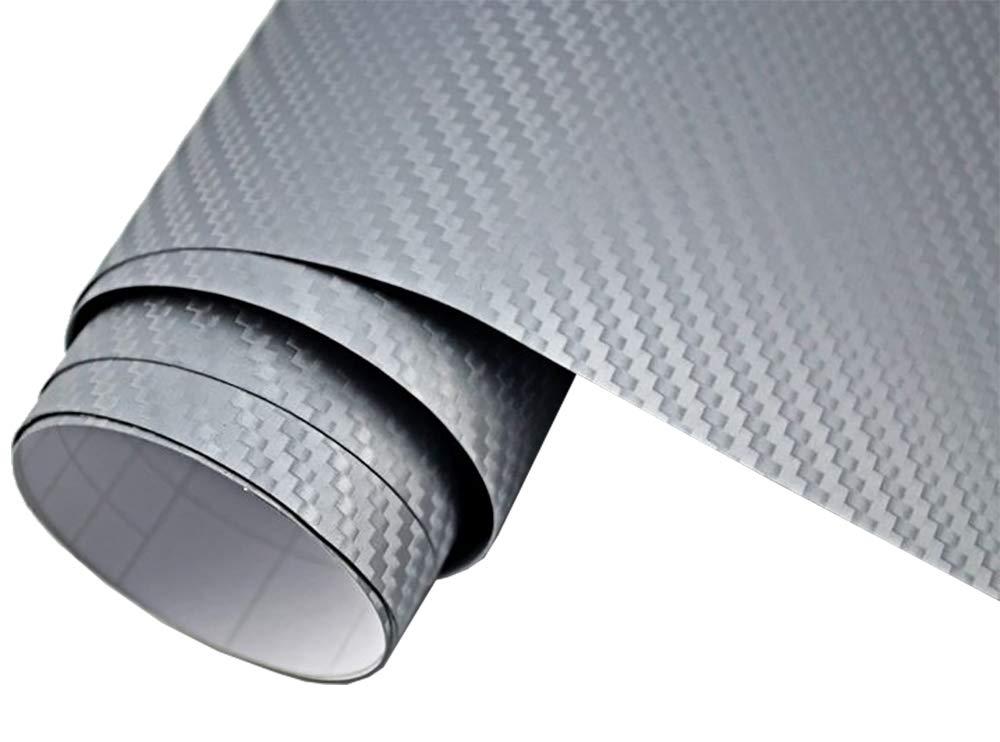 3D Carbon Folie silber blasenfrei 200 x 152 cm selbstklebend BLASENFREI Car Wrapping Klebefolie 4/€//m/² Auto Folie