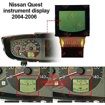 ALLWAY Instrument LCD Display for Nissan Quest 2004 2005 2006 Instrument Cluster Speedometer Pixel Repair