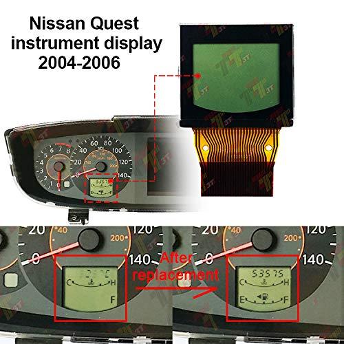 - ALLWAY Instrument LCD Display for Nissan Quest 2004 2005 2006 Instrument Cluster Speedometer Pixel Repair