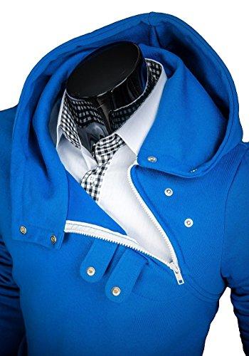 Sweatshirt 06 Capuche Fermeture 1a1 Pull Éclair Avec Indigo Sport De Bolf qdUgwq