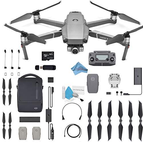 "DJI Mavic 2 Zoom Drone Quadcopter with 24-48mm Optical Zoom Camera Video UAV 12MP 1/2.3"" CMOS Sensor (US Version) Flymore Bundle"