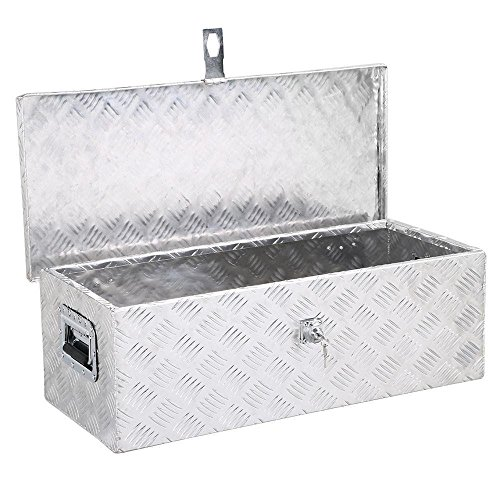 (Lovinland Aluminum Tool Box with Lock 30'' x 13'' Truck Bed Storage Tool Box Pickup Trailer Mounted Storage Box)