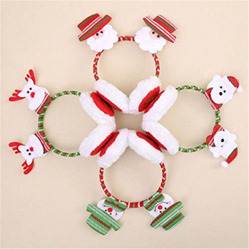 Christmas Beanie Ear Cover - Christmas Earmuffs Adults - Woman Girl Winter Warm Novelty Santa Claus Snowman Bear Christmas Earmuffs - #02 (Christmas Earmuffs For -