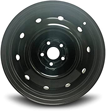 Exact OEM Replacement Full-Size Spare Road Ready Car Wheel For 2008-2011 Subaru Impreza 16 Inch 5 Lug Black Steel Rim Fits R16 Tire
