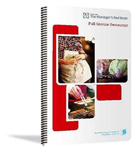 The Manager's Red Book - Full Service Restaurant Communication logbook, 8.5