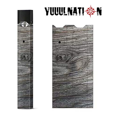 YuuulNation Original Juul Skin, 3m Durable Vinyl, Full Fit Coverage, Charger Compatible, Vinyl, Decal, Wrap (Wood Grain)
