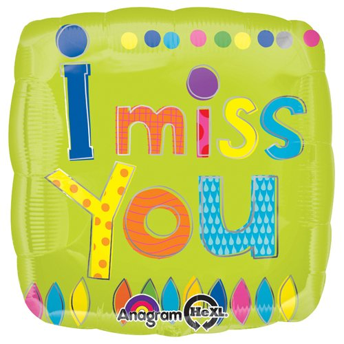 Anagram Foil Balloon 2874201 Young Art I Miss You, 18