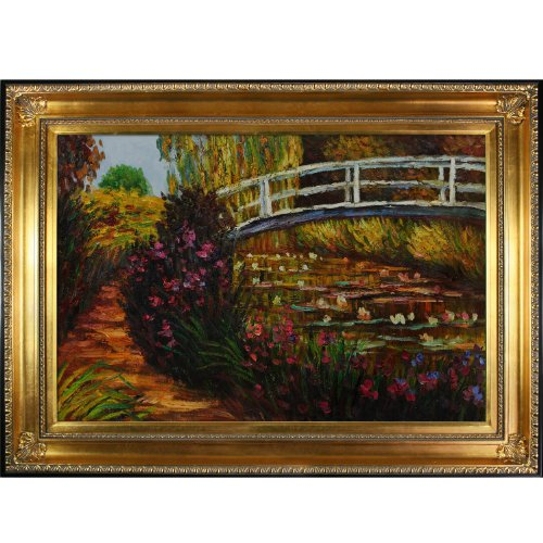Overstockart Mon2660-Fr-650G24X36 Monet The Japanese Bridge with Regency Gold Frame, Gold Finish by overstockArt