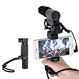 SUPON Smartphone Rig, Tripod Mount ,Filmmaker Handle Grip,Traveler Stand with Wrist Strap, & Cold Shoe Mount for Led Video Light and Microphone - For iPhone, Samsung, HTC, LG, Google, Android