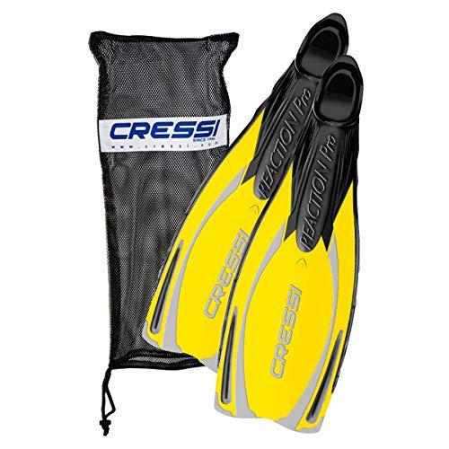 Cressi Reaction Pro Fins w/Bag - Yellow W/Bag - Us 10/11 | UK 44/45