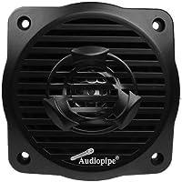 Audiopipe APSW-4032BK 4 100 Watt 2-Way Coaxial Black Marine Speaker Black (Pair)