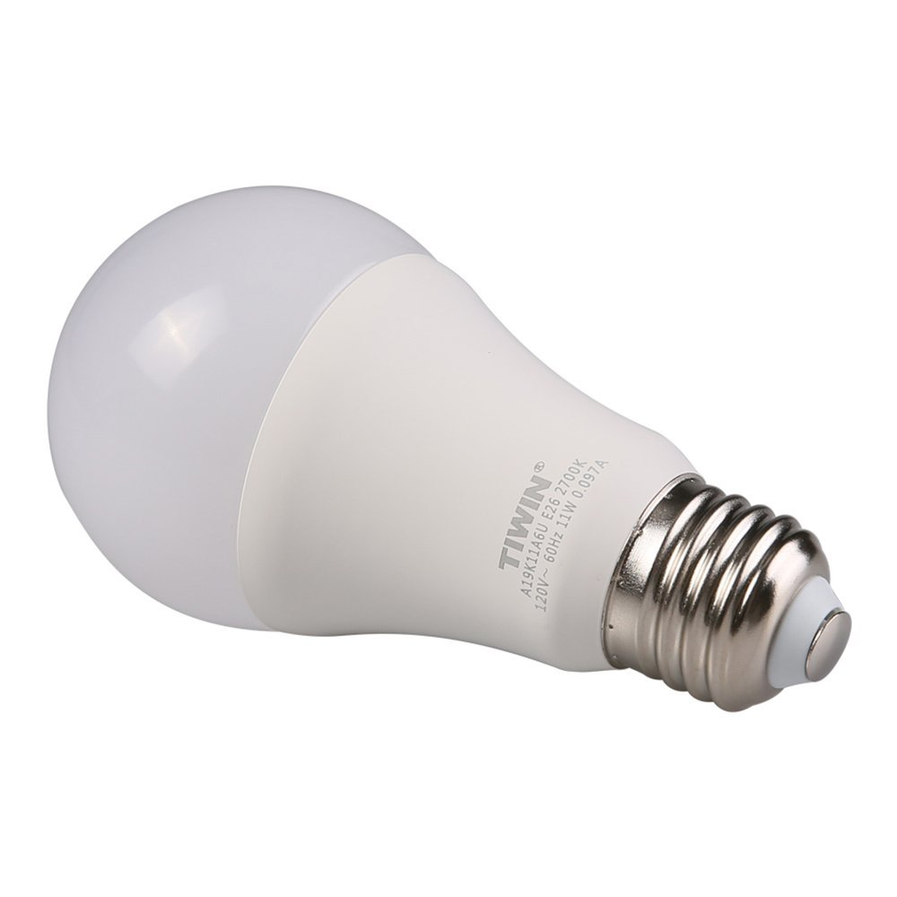 tiwin a19 e26 led light bulbs 100 watt equivalent 11w daylight. Black Bedroom Furniture Sets. Home Design Ideas