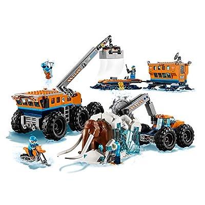 LEGO City Arctic Mobile Exploration Base Toy, Crane Vehicle Platform & Trailer, Construction Toys for Kids: Toys & Games