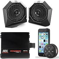 MTX Polaris RZR Remote Control Bluetooth Receiver All Weather Kit w Custom Speaker & Amplifier