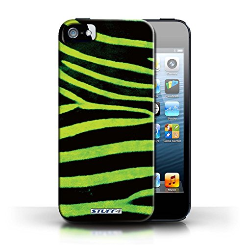 Case für Apple iPhone 5/5S / Grün Entwurf / Zebra Tier Haut/Print Collection