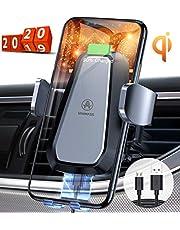 VANMASS Automatisch Wireless Charger Auto Handyhalterung Elektronisch Qi Ladestation Auto Motor Betrieb 10W Fast Charging Extra Stabil Lüftung für iPhone 11/XS/XR/8 Galaxy S10/Note10 Andere Qi Geräte