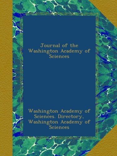 Read Online Journal of the Washington Academy of Sciences ebook
