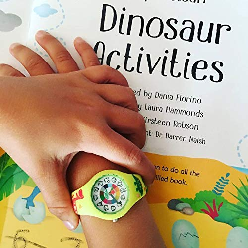 Dinosaur Preschool Watch - The Only Analog Kids Watch Preschoolers Understand! Quality Teaching time Silicone Watch with Glow-in-The-Dark Dial & Japan Movement by PRESCHOOL COLLECTION (Image #5)