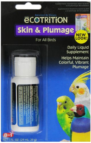 eCOTRITION Skin and Plumage Supplement for Birds, 1-Ounce