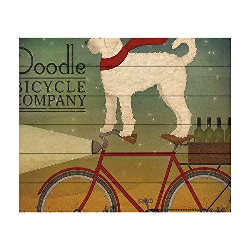 Trademark Fine Art White Doodle on Bike Summer by Ryan Fowler, Wood Slats 18x22, Multi-Color (Best Value Hybrid Bike)