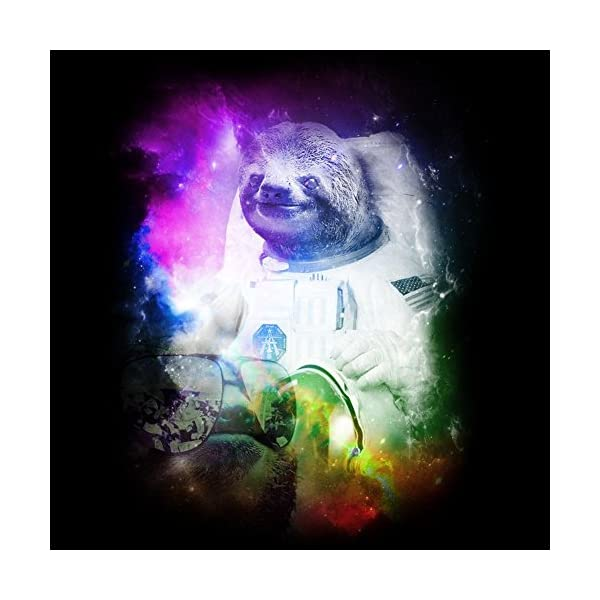 Design By Humans Space Sloth Men'S Graphic T Shirt -