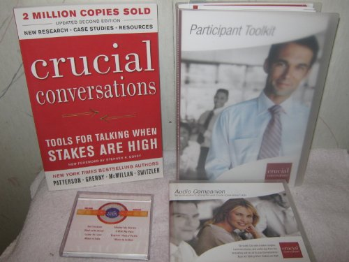 Crucial Conversations Kit (Book, 6 Audio Cd Set, Participant Toolkit, Quiz Cards) (Toolkit For Conversations)