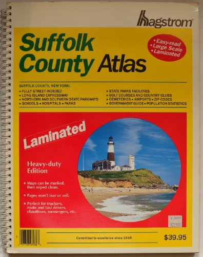 Suffolk County Atlas: Laminated (Hagstrom Suffolk County Atlas: New York (Spiral/Laminated))