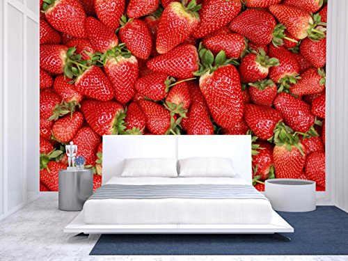 Collection of Freshly Harvested Strawberries Forming a Background with Copy Space