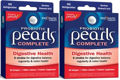 Enzymatic Therapy Probiotic Pearls Complete Softgel(formerly pearls ic), 90x2