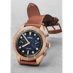 Oris Carl Latón Cronógrafo Edición Limitada Bronce Reloj 01 771 7744 3185-Set LS 3