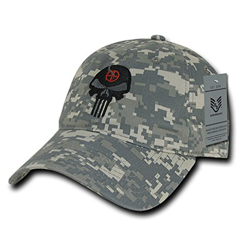 BHFC ACU Camo Camouflage Punisher Skull Military Navy Seal Special Forces Relaxed Polo Baseball Hat Cap