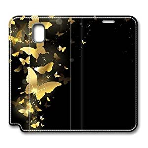 Brain114 Fashion Style Case Design Flip Folio PU Leather Cover Standup Cover Case with Butterfly 1 Pattern Skin for Samsung Galaxy Note 3