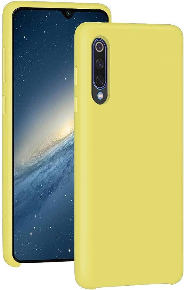 Funda Compatible con Xiaomi Mi 9 Teléfono Móvil Silicona Liquida Xiaomi Mi 9 Bumper Case y Flexible Scratchproof Ultra Slim Anti-Rasguño Xiaomi Mi 9 Protectora Caso