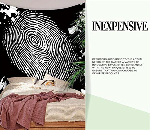 Creative Tapestry, Striped Abstract Fingerprint Print Pattern Tapestry, Wall Decoration, Outdoor Beach Towe , A , 200150 by LLVV Tapestry (Image #5)