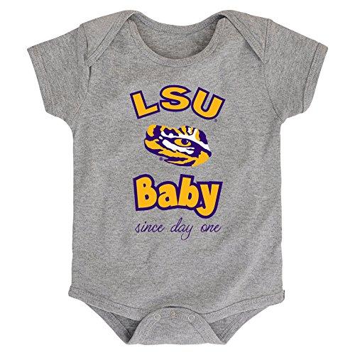 - NCAA LSU Tigers Newborn & Infant Team Baby Bodysuit, 18 Months, Heather Grey