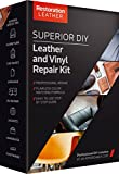 Superior Leather and Vinyl Repair and Restoration Kit - DIY Kit For Scratch, Crack, Patch, Recoloring - Tear and Restoration of Upholstery, Car Seat, Shoe, Furniture and More By Restoration Leather