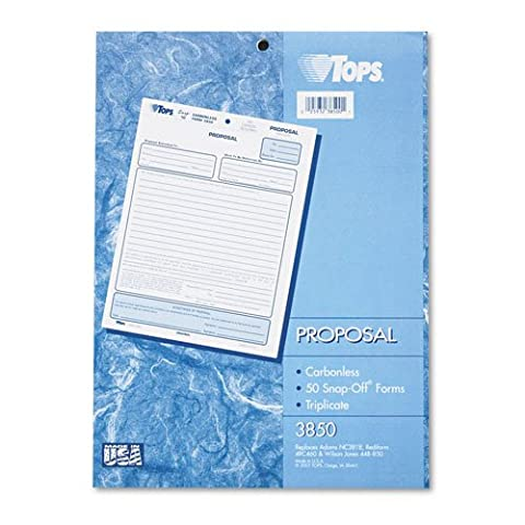 TOPS : Proposal, 8-1/2 x 11, Carbonless Triplicate, 50 Loose Form Sets/Pack -:- Sold as 2 Packs of - 50 - / - Total of 100 - Carbonless Triplicate Proposal Form