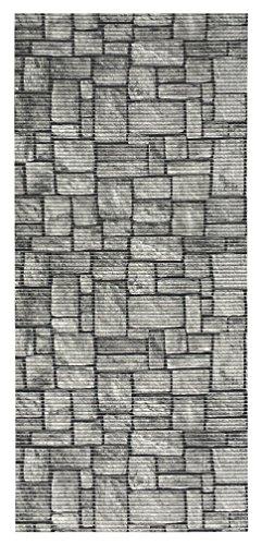 All Design Mats AQ584-03-2x5 Cushioned Non-Slip/Rubber, Backing 3D Stone Print Aqua Runner/Doormat, 26