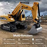 HOTUEEN 1:24 Four-Wheel Drive Crawler Excavator Remote Control Educational Toy with Light Toy RC Vehicles