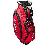 Team Golf NCAA Cincinnati Bearcats Victory Golf Cart Bag, 10-Way Top with Integrated Dual Handle & External Putter Well, Cooler Pocket, Padded Strap, Umbrella Holder & Removable Rain Hood