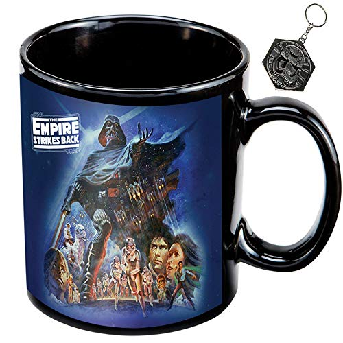 Empire Mug - Empire Strikes Back Star Wars Ceramic Coffee Mug & Stormtrooper Keychain, Bundle Set