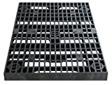 2 Feet x 4 Feet Heavy Duty Grate Panel for Pond and Water Garden Features and More - Hides Basins and Reservoirs - Holds Fountains, Rocks, Other Decorations - Will Not Rust - Black - Can Be Cut
